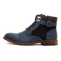 Мужские ботинки Casual Chelsea Biker Zip Buckle Lace Up Boots