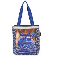 Женская сумка с кошками Laurel Burch Indigo Blue Metallic Gold Azul Cat