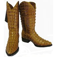 Мужские сапоги Men's Crocodile Alligator Tail Full Leather Cowboy Western Boots J Toe Buttercup