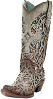 Женские сапоги Corral Women's Taupe Inlay Boots