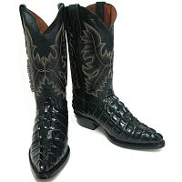 Мужские сапоги Men's New Crocodile Alligator Tail Leather Cowboy Western J Toe Boots Green