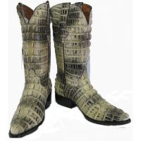 Мужские сапоги Men's Crocodile Alligator Tail Full Leather Cowboy Western Boots J Toe Natural