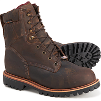"Мужские ботинки Chippewa 8"" Ellicott Thinsulated Logger Waterproof Work Boots"