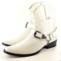 Мужские ботинки Mens Gents Snake Skin Full Zip Western Cowboy Ankle