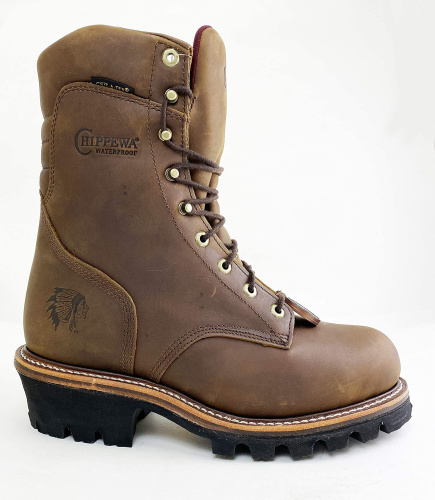 Мужские ботинки Chippewa Men's Waterproof Logger Work Boot Steel Toe - 59405 фото 2