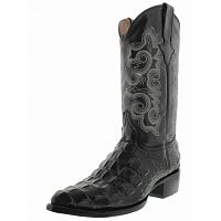 Ковбойские сапоги TW Crocodile Alligator Back Leather Cowboy Western J Toe Boots Black