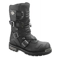 Мужские байкерские сапоги Harley-Davidson Axel Black Leather High Cut Boot