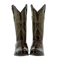 Мужские сапоги Mens brown alligator belly smooth crocodile leather western cowboy